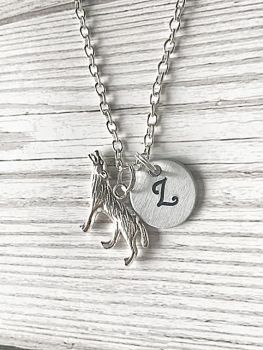 Personalised Wolf Necklace