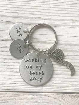 Weight Loss Journey Keyring