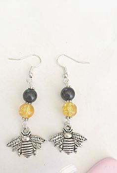 Dangly Bee Earrings