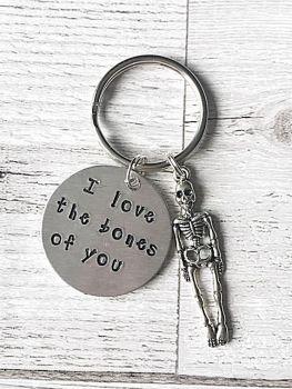 I Love The Bones Of You Keyring