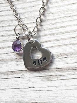 Mum Birthstone Necklace