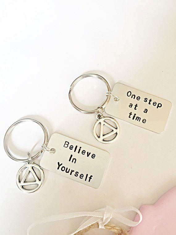 Hand Stamped Recovery Keyring