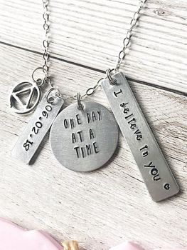 Recovery Necklace - Personalised Date