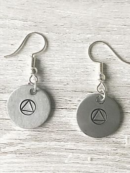 Recovery Symbol Earrings