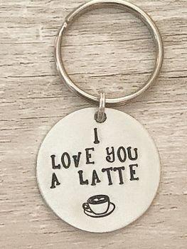I Love You A Latte Keyring