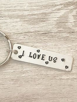 I Love Us Keyring Tag