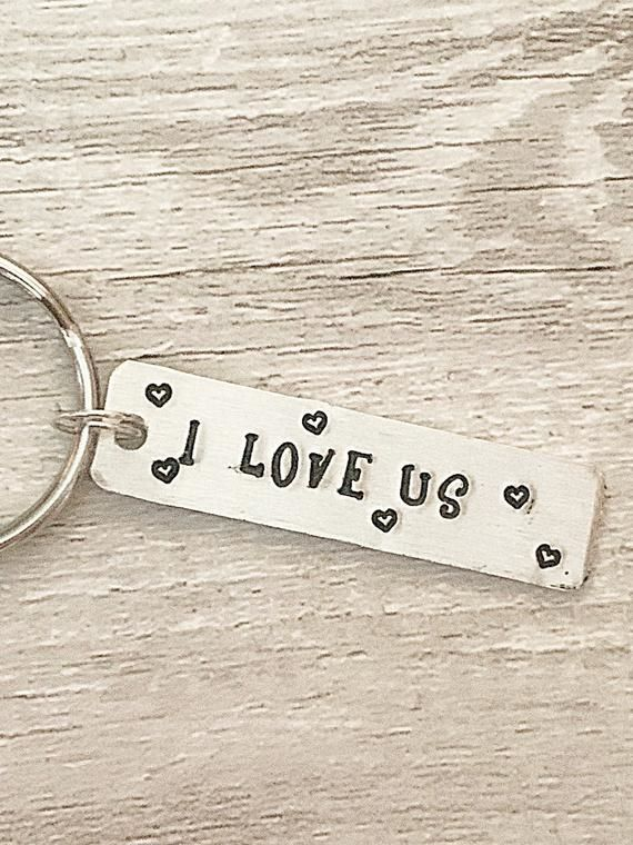 I Love Us Keyring Tag