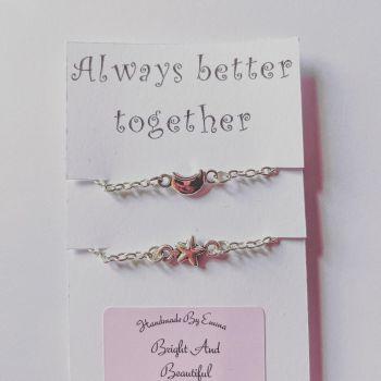 Personalised Matching Celestial Bracelets