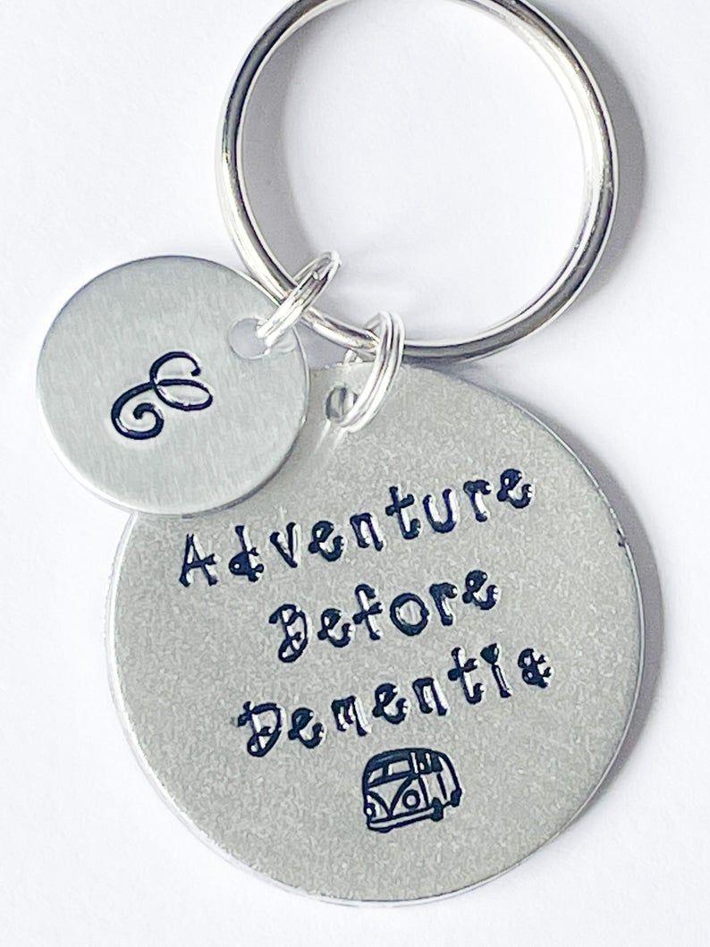 Adventure Before Dementia Keyring