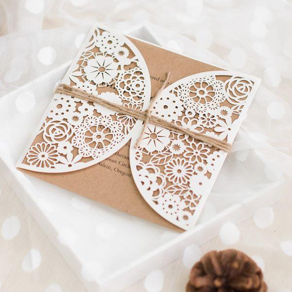 Romantic flowers lasercut
