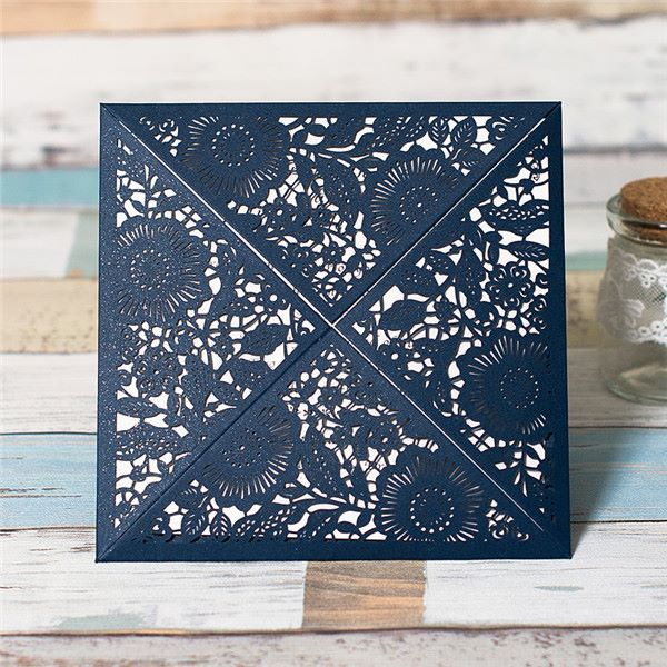 Floral openfold lasercut