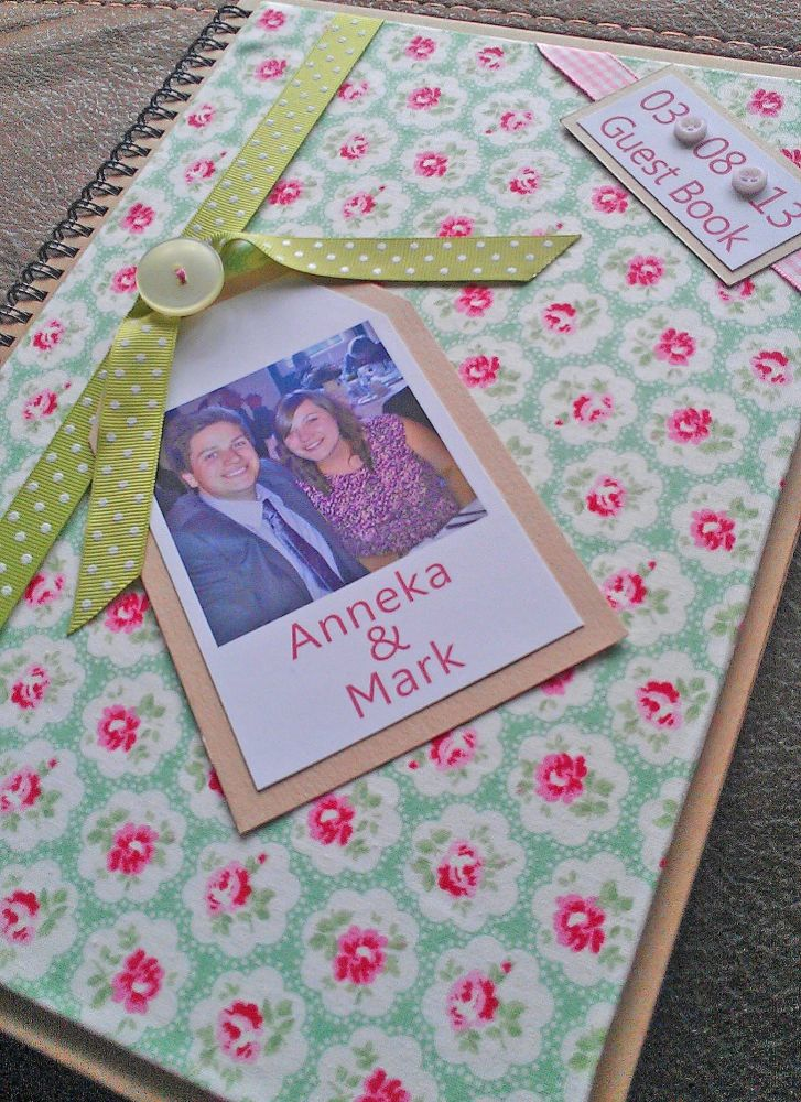Themed fabric photo guest book