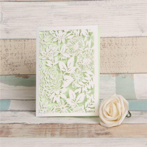 Floral lasercut booklet
