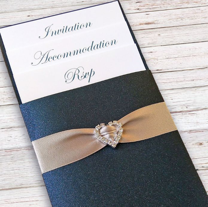 Pocket wallet invitations