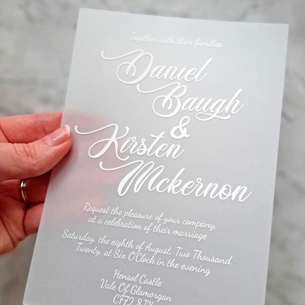 40 Vellum UV printed invitations