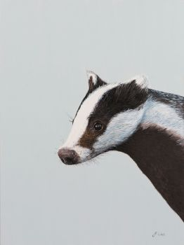 'The Artful Badger' Giclee print size 25cm x 33cm