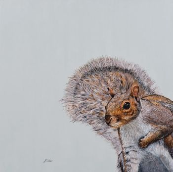'Cyril the Squirrel' Giclee print size 25cm x 33cm