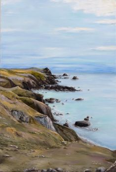 'Looking South' Lizard Point, Cornwall.  Original painting.
