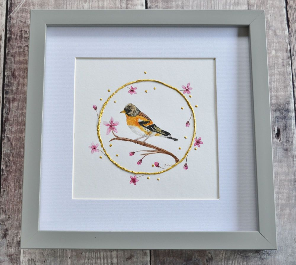 The Little Brambling.  Original Painting.  Size 10