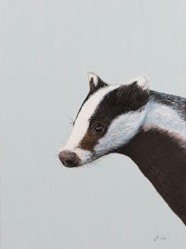 Large A3  Badger Print