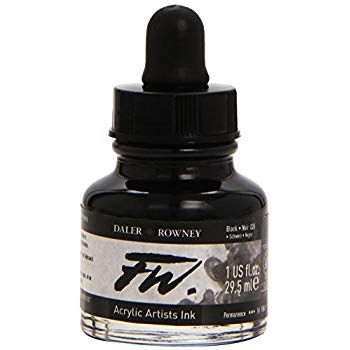 FW Black Acrylic Ink