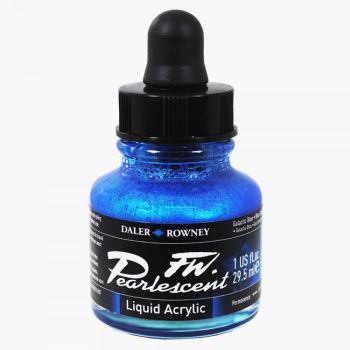 FW  Pearlescent Galactic Blue Acrylic Ink