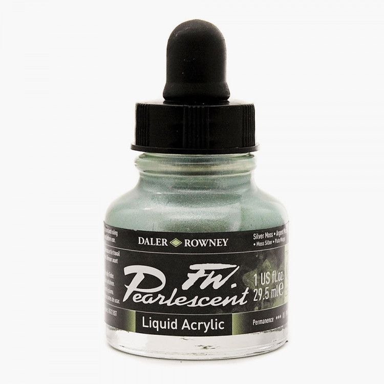 FW Pearlescent Silver Moss Acrylic Ink