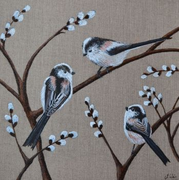 Long Tailed Tits Card