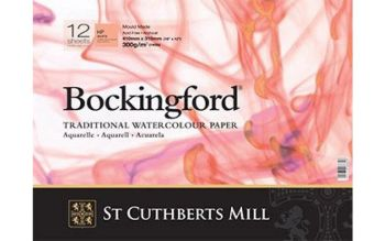 "Bockingford 300gsm Glued Pad 12"" x 9"" (310 x 230mm) Hot Pressed"
