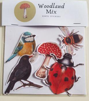 Woodland Mix. Vinyl Stickers.