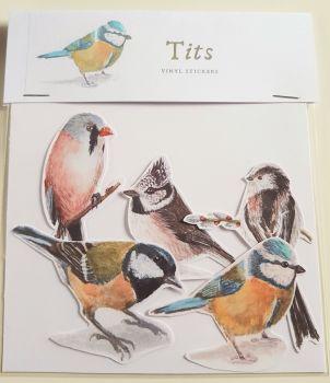 'Tits' Bird Stickers.