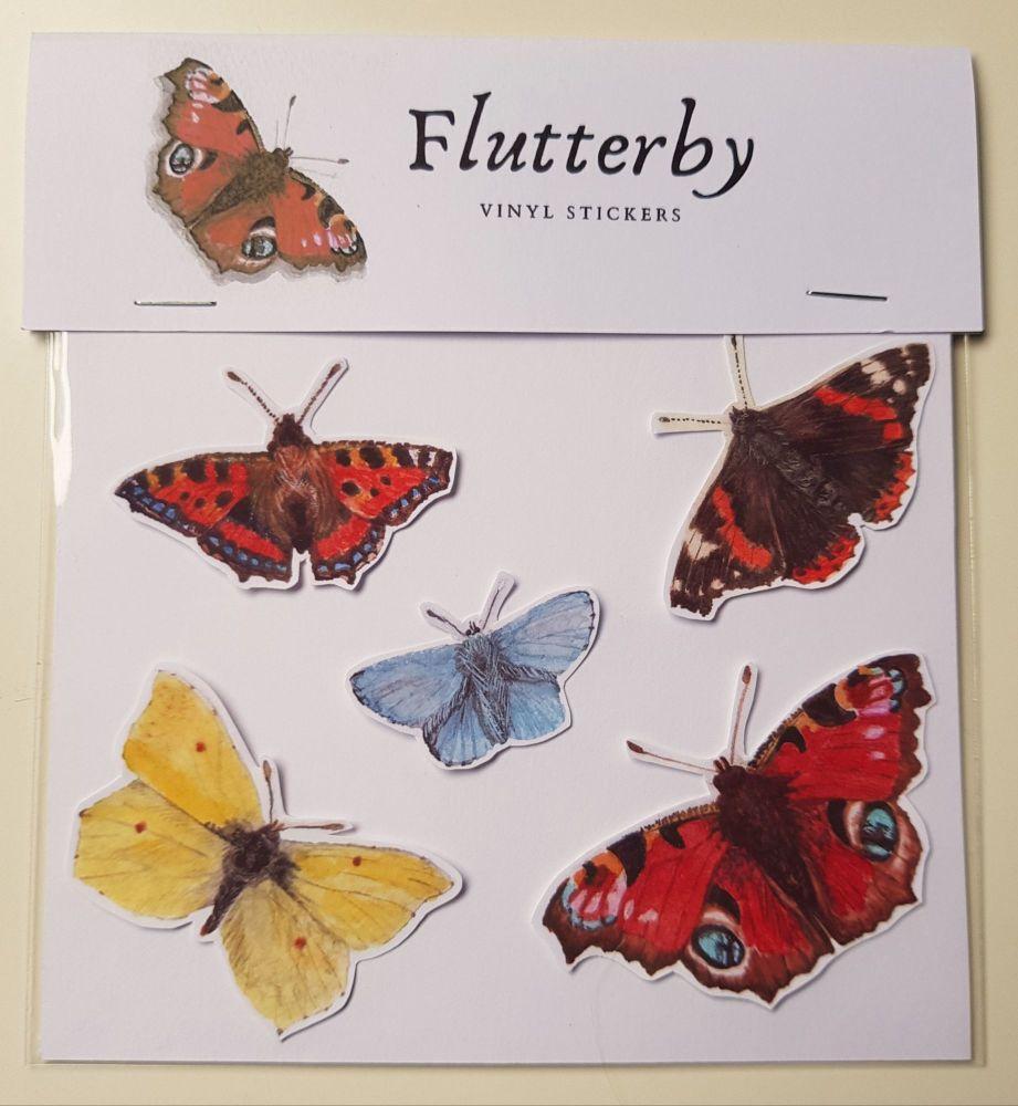 'Flutterbys' Vinyl Stickers.