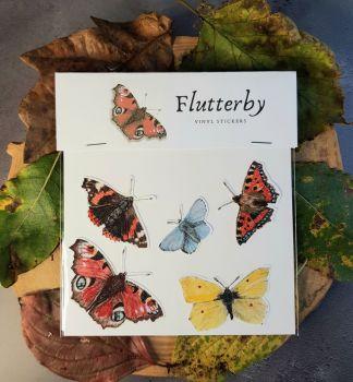 'Flutterbys' Butterfly Wildlife Stickers.