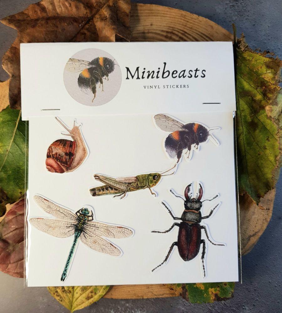 Minibeasts, vinyl stickers.