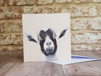 Goat Greeting Card, Blank card