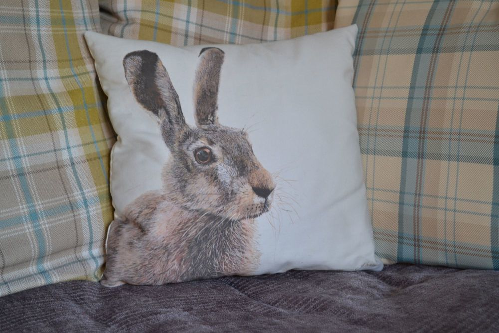 Hare Cushion Cover