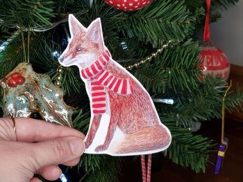 Large Fox Sticker.