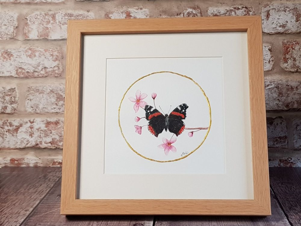 Red Admiral Watercolour Painting.