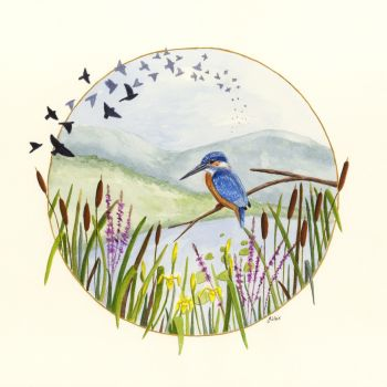 By the Waters Edge. Kingfisher Print