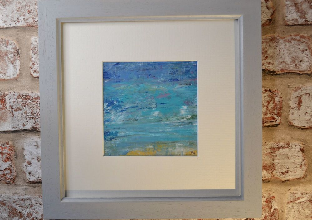 Abstract Seascape, Original Oil Painting.