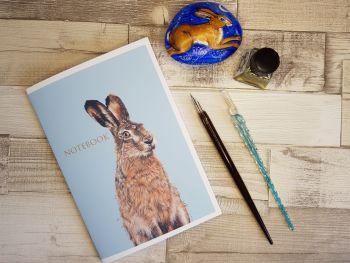 A5 Handmade Hare Notebook.