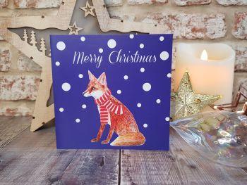 Fox Christmas Card.