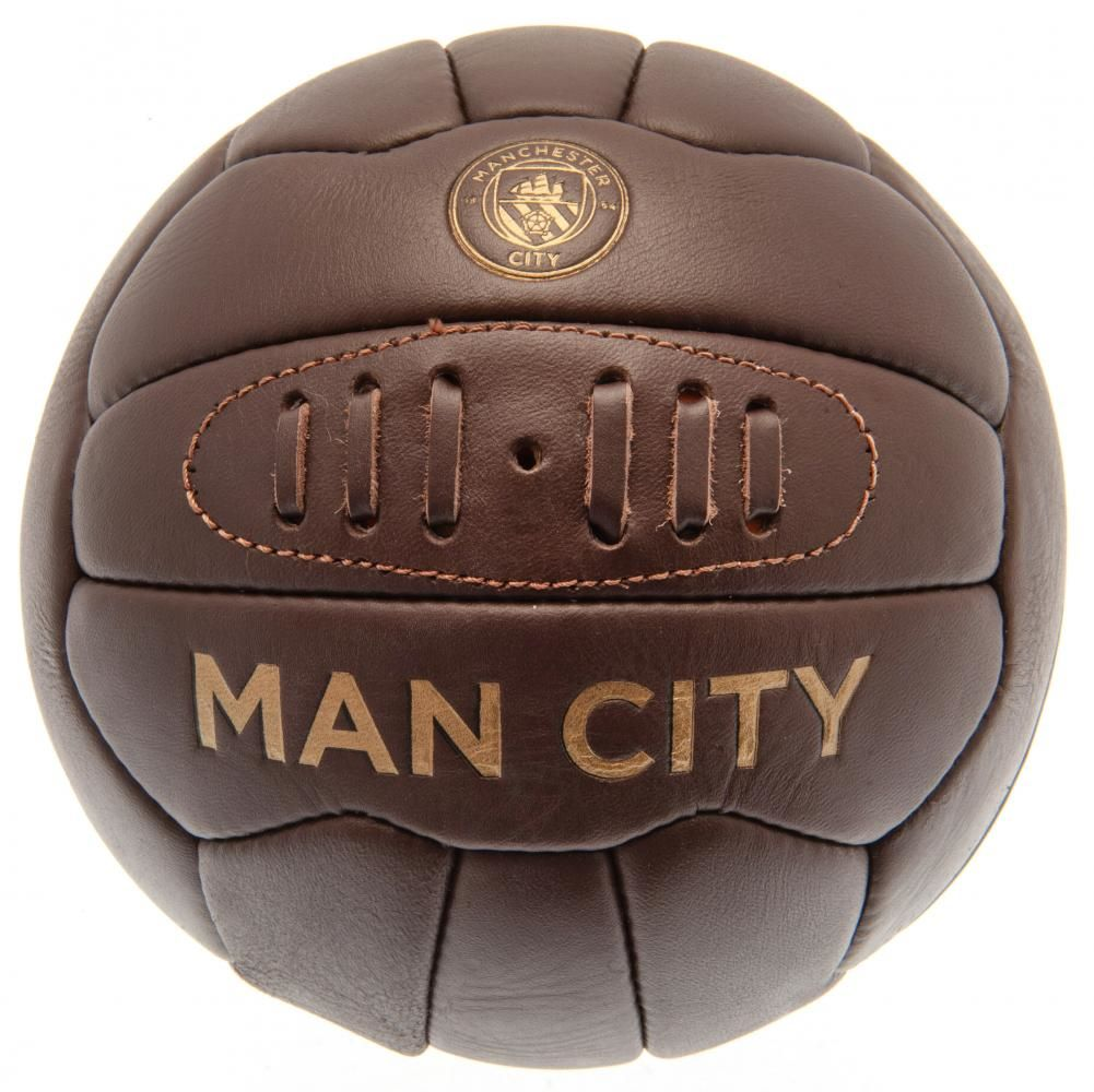 Manchester City Retro Heritage Football (Size 5)