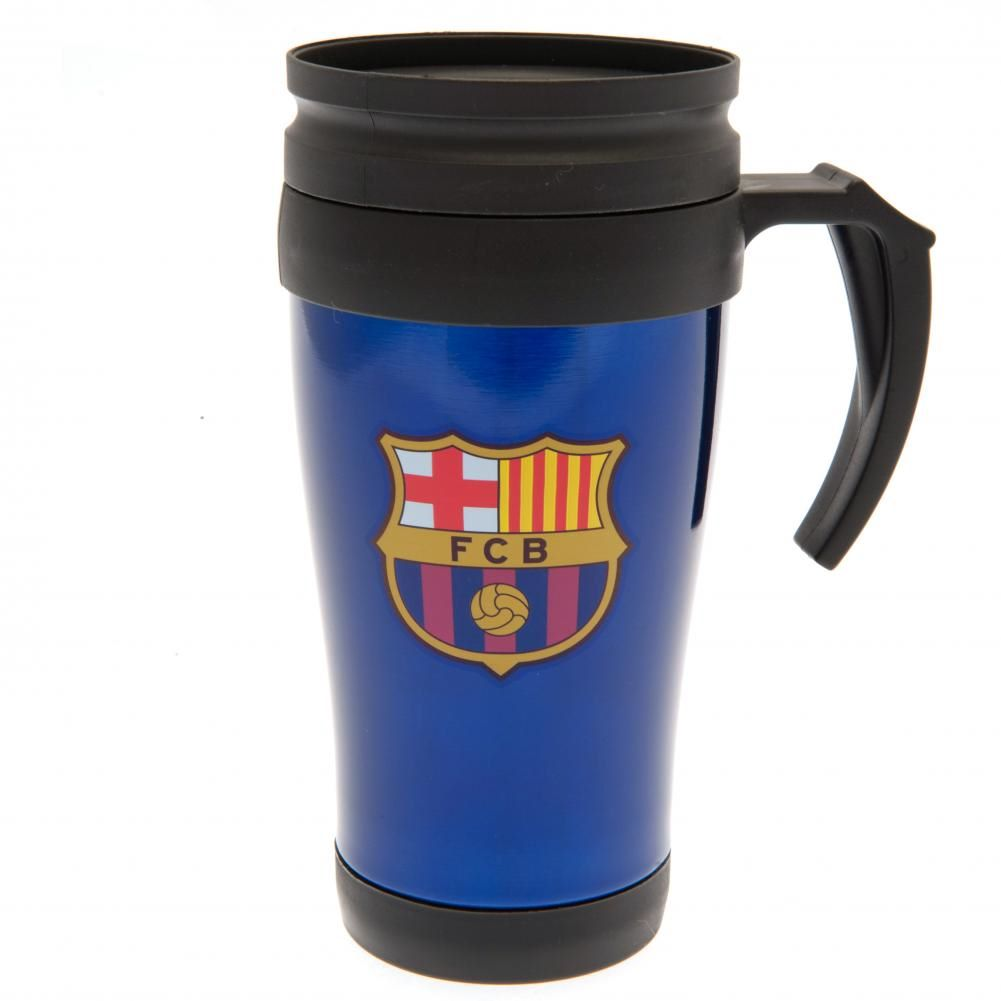 Barcelona Handled Travel Mug BL