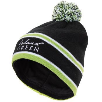 Island Green Knitted Stripe Bobble Hat (Green)