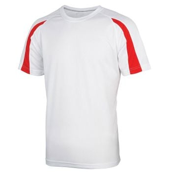 AWDis Just Cool Contrast T-Shirt (Artic White)