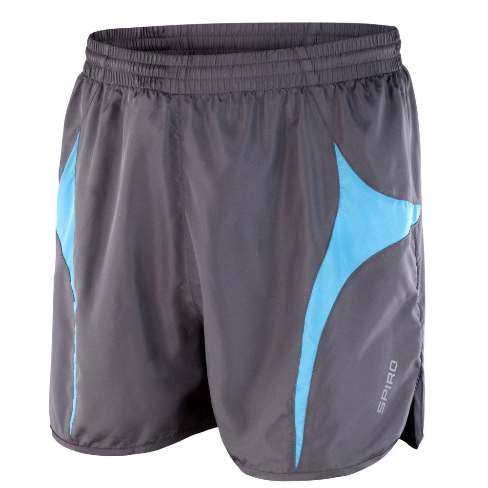 Spiro Sports Athletic Quick Drying Shorts (Aqua/Grey)