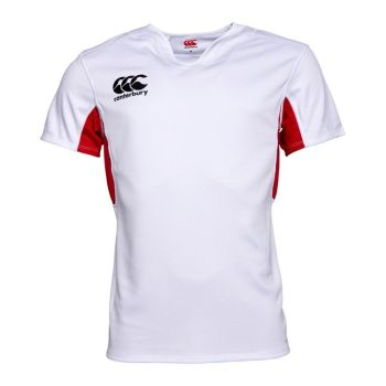 Canterbury Mens Vapodri Challenge Jersey (White/Flag Red)