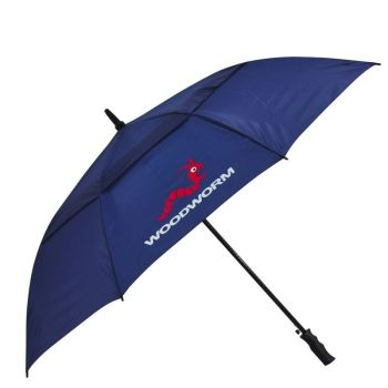 "Woodworm Windproof 60"" Double Canopy Golf Umbrella (Navy)"
