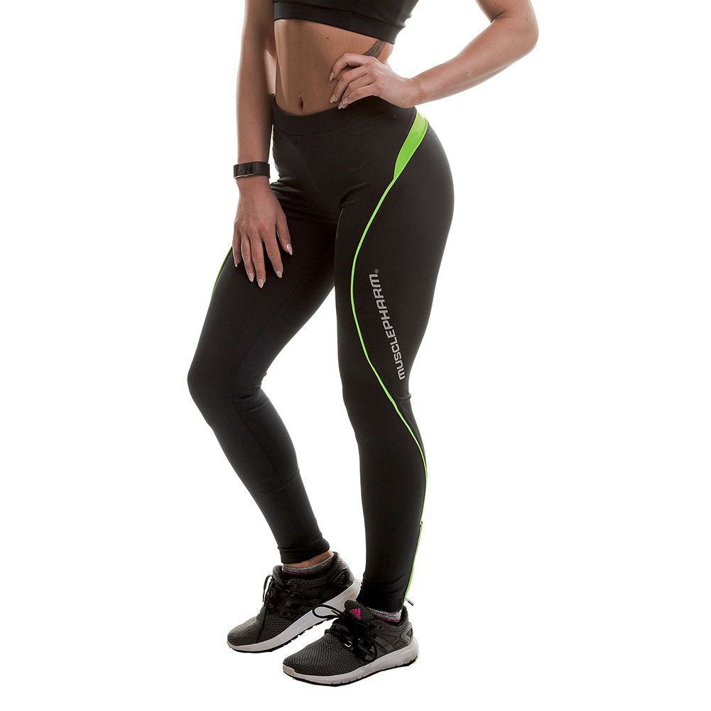 MusclePharm Leggings (Black/Lime)